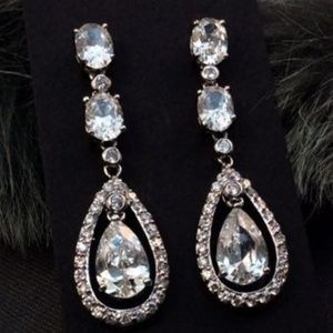 "2"" AAA Quality CZ Drop Earrings"
